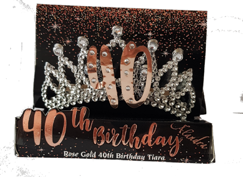 40th Gold Boxed Birthday Tiara